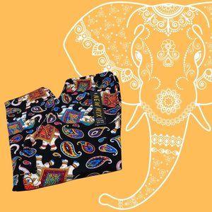 Buttery Soft Paisley Elephant Capri